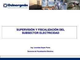 Supervisión y Fiscalización del Subsector Electricidad
