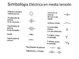 Simbología Eléctrica en media tensión