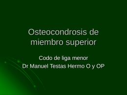 Osteocondrosis de miembro susperior
