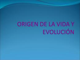 1. EL ORIGEN DE LA VIDA