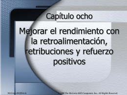Refuerzo positivo - McGraw