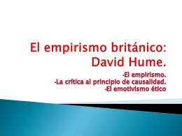 El empirismo británico: David Hume.