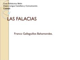 LAS FALACIAS - Lengua Castellana y Comunicación