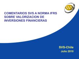 Comentarios mercado al borrador IFRS Inversiones Financieras