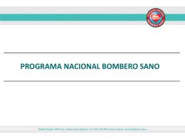 Presentación - Programa Bombero Sano