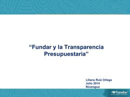 Fundar y la propuesta de transparencia presupuestaria