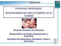 Ing. Amanda Fuxman - Alimentos Argentinos