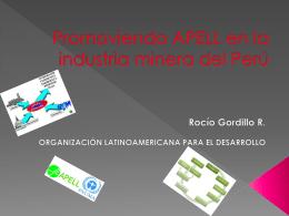Promoviendo APELL en la industria minera del Perú