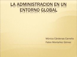 EXPO la administracion en un entorno global