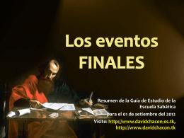 Lección 09: Los eventos finales