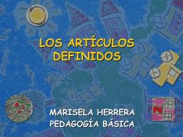 LOS ARTÍCULOS DEFINIDOS