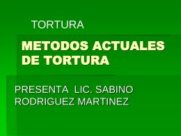 TORTURA UNO - Justicia Forense
