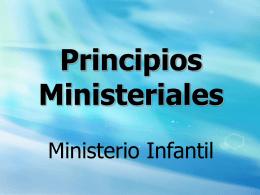 Ministerio infantil - Principios - D. Celis