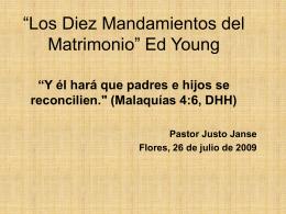 """""""Los Diez Mandamientos del Matrimonio"""" Ed Young"""