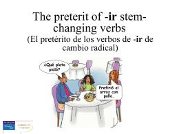 Irregular preterit I