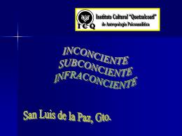 Subconsciente Inconsciente Infraconsciente