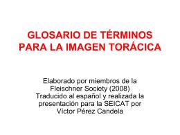 GLOSARIO DE TÉRMINOS EN LA IMAGEN TORÁCICA