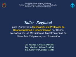 Taller Regional