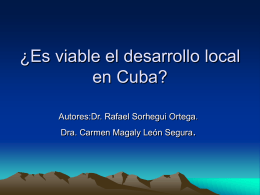 ¿Desarrollo local en Cuba?