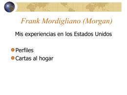 El perfil de Frank: la vida en Italia