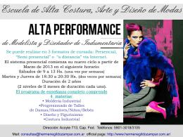 Alta performance - Hermenegildo Zampar