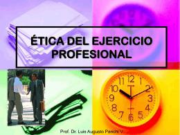 ETICA PROFESIONAL - Corporación Ética, Economía y Empresa