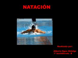 TRABAJO DE NATACION, ALBERTO