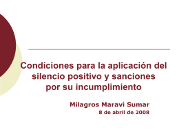 Condiciones para la procedencia y aplicación del silencio positivo