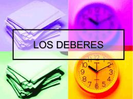 LOS DEBERES