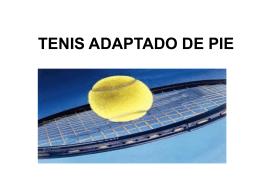 proyecto. tenis adaptado de pie