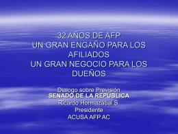 Vea la presentación de Ricardo Hormazabal