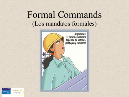 Formal commands - Auburn City Schools