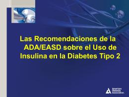 Las Recomendaciones de la ADA/EASD sobre el