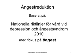 Ångestreduktion-powerpointpresentation