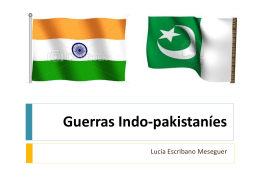Guerras indopakistaníes en ppt