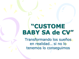 """""""CUSTOME BABY SA de CV"""""""