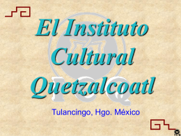 Tonatiuh - Instituto Cultural Quetzalcoatl
