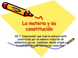 La materia y su constitucion 7 basico