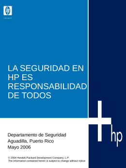 Seguridad - Hewlett Packard
