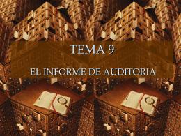 Identificación de la entidad auditada.