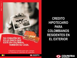 credito hipotecario para colombianos residentes en el exterior