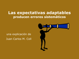 Las expectativas adaptables