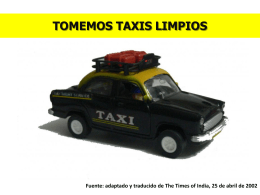 Tomemos taxis limpios