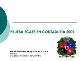 ECAES – Contaduría Pública - Facultad de Ciencias Económicas