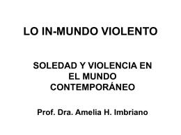 LO INMUNDO VIOLENTO