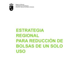 ESTRATEGIA REGIONAL DE REDUCCIÓN DE BOLSAS DE UN