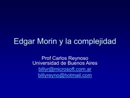 Edgar Morin y la complejidad
