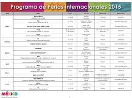 Programa de Ferias Internacionales 2014