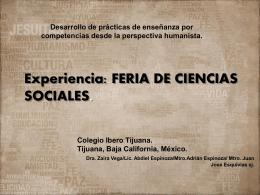 """Feria de Ciencias Sociales"" – Colegio Ibero Tijuana"