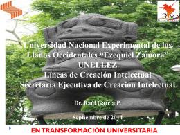 Taller Sistema de Creación Intelectual UNELLEZ